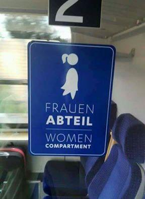"""Frauenabteil bei der """"Deutschen Bahn"""""""