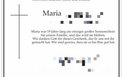 Familie der toten Studentin bittet um Spenden für Flüchtlingshilfe
