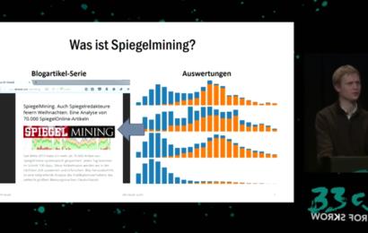 David Kriesel: Wie Spiegel-Online die Meinung durch Schlüsselwörter & Kommentarfunktion beeinflusst