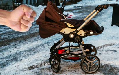 Baby fiel bei Prügelattacke auf Straße