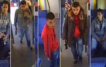 Fahrgast in S4 verprügelt: Wer kennt diese Männer?
