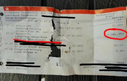 Keine Fälschung!? Kontoauszug mit 1780,35 € für Asylbewerber