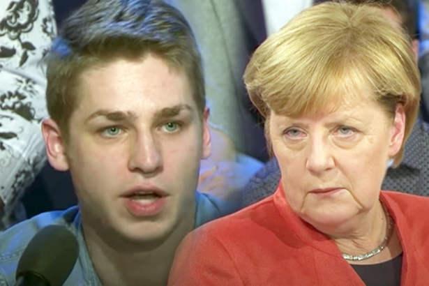 Junger Krankenpfleger knöpft sich Kanzlerin Merkel vor