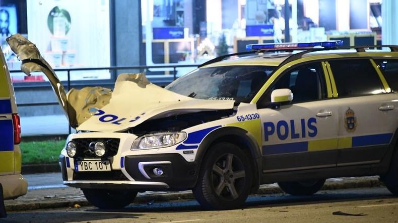 Explosion an einem Polizeiauto in Malmö