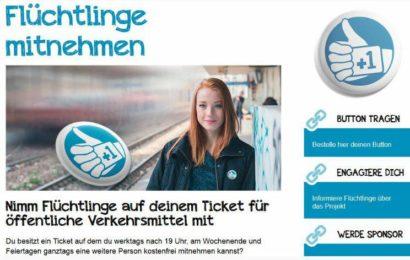 Flüchtlinge mitnehmen,teile dein Ticket