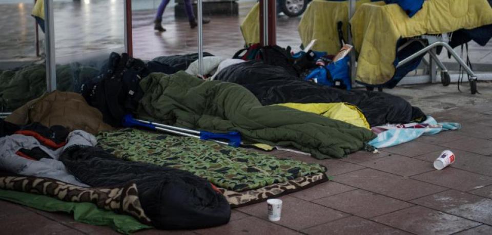 Obdachlose bangen um ihr Leben