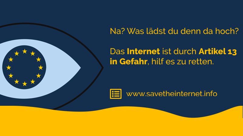 Stoppt die Zensurmaschine – Rettet das Internet!