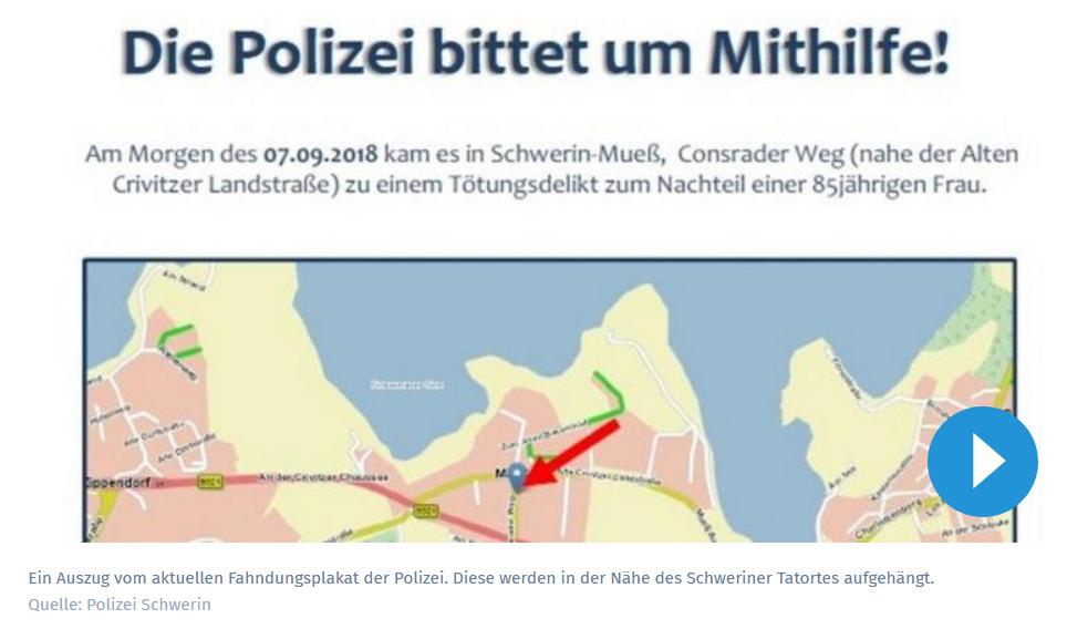 Frau in Schwerin getötet: So sucht die Polizei jetzt den Täter