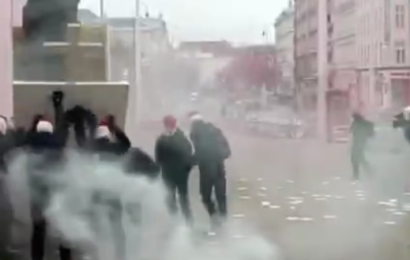 """Aktivisten in Wien bedeckten eine BLM-Statue """"Video"""""""