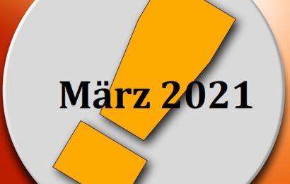 Pressemitteilung vom März 2021